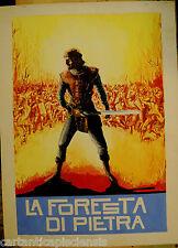 DIPINTO BOZZETTO per manifesto TEMPERA  1900     LA FORESTA DI PIETRA