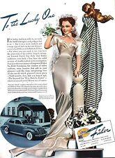 PUBBLICITA' BUICK BODY BY FISCHER GENERAL MOTORS CAR AUTO LUSSO AMERICA 1940