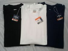New-Men'S Callaway L/S Mock Neck Shirt, 3Xl, #Cgm103, Navy,White, Black $38.00