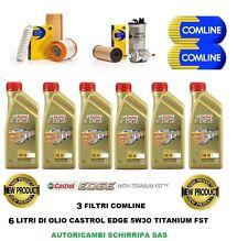 KIT TAGLIANDO OLIO MOTORE CASTROL EDGE 5W30 + 3 FILTRI COMLINE BMW 320D E90-E91