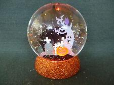 Hallmark Gift Bag Halloween Black Cat Graveyard Castle Ghost Tree Snow Globe NEW