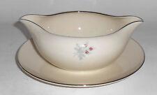 Triomphe China Porcelain Caress Platinum Band Gravy Bowl