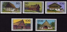 WEST GERMANY MNH STAMP SET DEUTSCHE BUNDESPOST FARM HOUSES 1995 SG 2678 - 2682