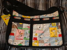 Lesportsac Peanuts Snoopy Patchwork Deluxe Everyday Bag Crossbody Bag Purse New