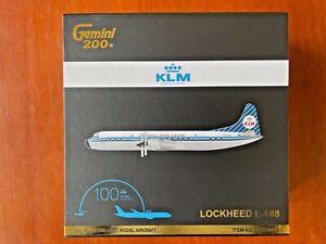 GEMINI JETS G2KLM848 KLM LOCKHEED L-188 ELECTRA  PH-LLE  DIE-CAST  1/200