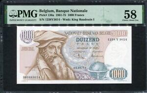 Belgium 1961-1975 ( 1973 ), 1000 Francs, P136a, PMG 58 AUNC