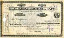 1882 Brookland Mining Co Stock Certificate