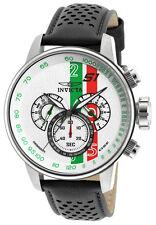 Invicta S1 Rally 90106 Men's Round Chronograph Black Leather Watch