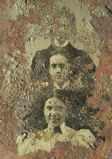 ANTIQUE VICTORIAN AMERICAN BEAUTY ARTISTIC THREE BFFs AMIGAS FL TINTYPE PHOTO
