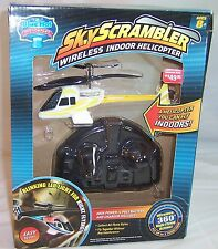 Sky Scrambler Wireless Indoor Helicopter,Blue Hat. New in Box