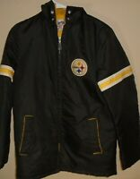 Vintage NFL 1970s Steelers Stahl Urban football with patch jacket size 18 (small