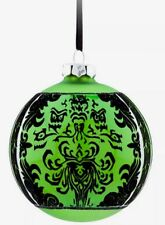 DISNEY PARK AUTHENTIC ORNAMENT HAUNTED MANSION GREEN CREEPY WALLPAPER GLASS BALL