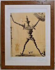 ✔ Salvador Dali Don Quixote & Sancho Panza Hand Signed Lithograph # 256 / 300