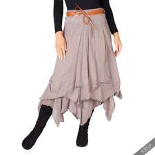 Faldas de mujer largas blancos de 100% algodón