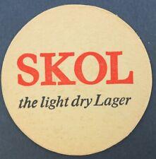 Ancien Sous-bock bière SKOL beer beermat coaster Bierdeckel 13