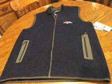 Denver Broncos NFL Men's Blue GIII Apparel Logo Vest Size Large - NWT