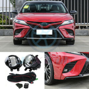 OEM LED Fog Light Driving Lamp w/ Harness Swith Kit for Toyota Camry 2018-2020 H