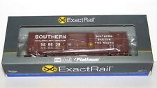 ExactRail Platinum Southern Waffle Side Boxcar WITH Side Door Crank---NEW--HO