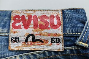 Vintage Evisu blue jeans W32 L32 Straight Made in Italy Evisu EU ED Ninja