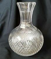 Antique Crystal Carafe American Brilliant ABP Mega Cut Diamond Pineapple Cuts