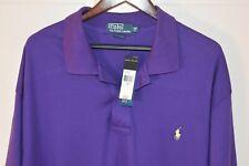 NWT $75 POLO RALPH LAUREN 2XB BIG Men's S/S Soft Cotton Polo Shirt Purple
