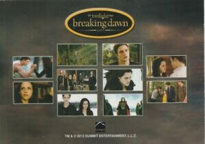 Twilight Saga Breaking Dawn Part 2 Series 1 Promo Card Title Card Bella Edward