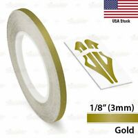 """1/8"""" Roll Vinyl Pinstriping Pin Stripe Solid Line Tape Decal Sticker 3mm GOLD"""