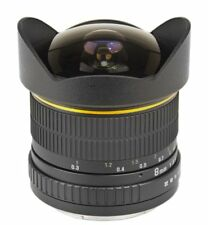 Bower 8mm Ultra Wide Angle f/3.5 Fisheye Aspherical Lens for Canon EOS