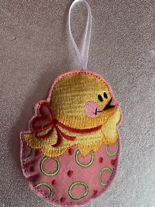 Handmade Embroidered Felt Easter Chick Ornament /Decoration Gift