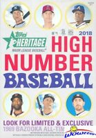2018 Topps Heritage High Number Baseball Factory Sealed HANGER Box! On Fire!