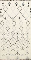Vegetable Dye Geometric Moroccan Berber Oriental Area Rug Hand-knotted IVORY 4x7