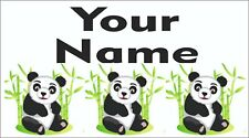 65 Personalised waterproof school name label sticker Panda for shoes,bottle