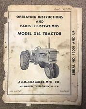 Allis Chalmers D14 tractor operators manual ORIGINAL