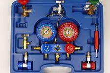 AC Refrigeration Gauge Manifold set kit R410a R134a R404 R32 refrigerant