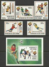 IVORY COAST 1982 WORLD CUP SET MINT