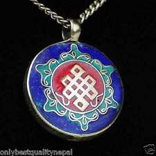Amulet Buddhism Pendant Jewelry from India Thoughts Knot Talisman a72