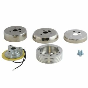 Polished 5 6 Hole Steering Wheel Hub Adapter Ford Mustang Galaxie 1965-1969