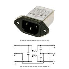 Embase Secteur Mâle avec Filtre 250 Volt 3 Ampéres