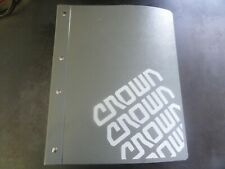 Crown Lift Trucks RR RD 5200 Series Forklift Service & Parts Manual