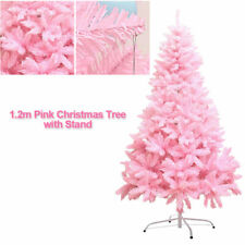 4ft Fiber Optic Pink Christmas Tree 1.2m Indoor Xmas Decoration Party