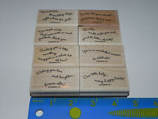 Stampin Up Curvy Verses Stamp Set 8 Little Something One Little Baby Wishing You