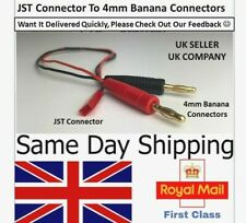 JST Connector Plug to 4mm Banana Charging lead Male Female Lipo Charging RC UK