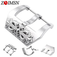 Embossed Stainless Steel Watch Buckles Leather Band Strap 20 22 24 26mm for PAN