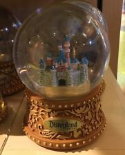 Disneyland Resort Sleeping Beauty's Castle Resin Musical Snow Globe New w/ Box