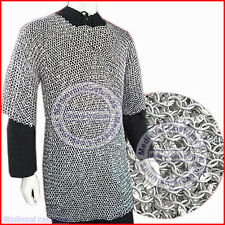 XXL Aluminium Round Riveted Chain Mail Shirt 9mm 16 Guage Medieval Chainmail s1