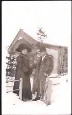 VINTAGE RPPC 1900S WOMEN'S MEN'S FASHION DAWSON YUKON CANADA OLD PHOTO POSTCARD
