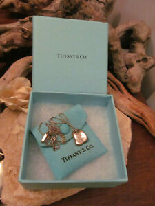925 Sterling Silver Tiffany & Co Elsa Peretti FULL HEART Necklace,4.8g Spain