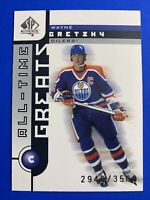 2002-03 UD SP Authentic All-Time Greats #101 Wayne Gretzky /3500 Edmonton Oilers