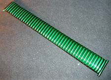 New ROWI Germany 22mm 22 mm Metallic Green Fixo-Flex Expansion Watch Band $29.95