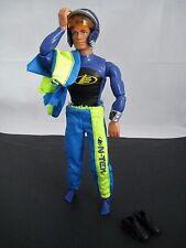 """MAX STEEL 12"""" ARTICULATING ACTION FIGURE MATTEL 1998 Blue Wet Suit & Racing Suit"""
